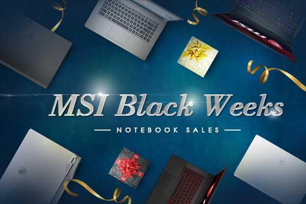 MSI Black Weeks: sconti fino a 600 euro dal 16 al 30 novembre