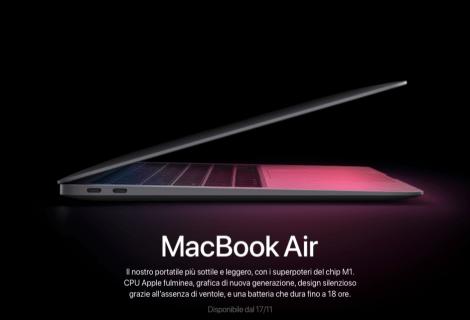 MacBook Air M1: tutte le novità annunciate da Apple