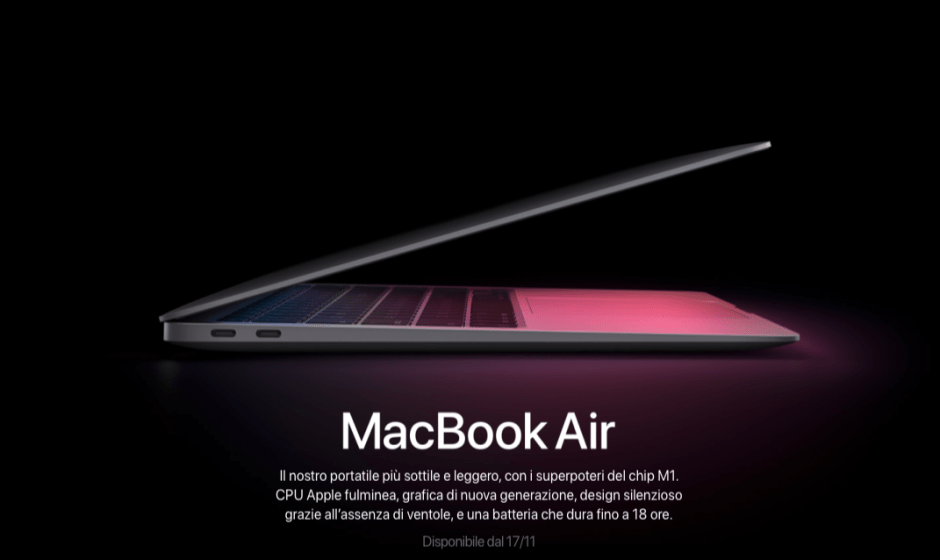 MacBook Air M1: tutte le novità annunciate da Apple