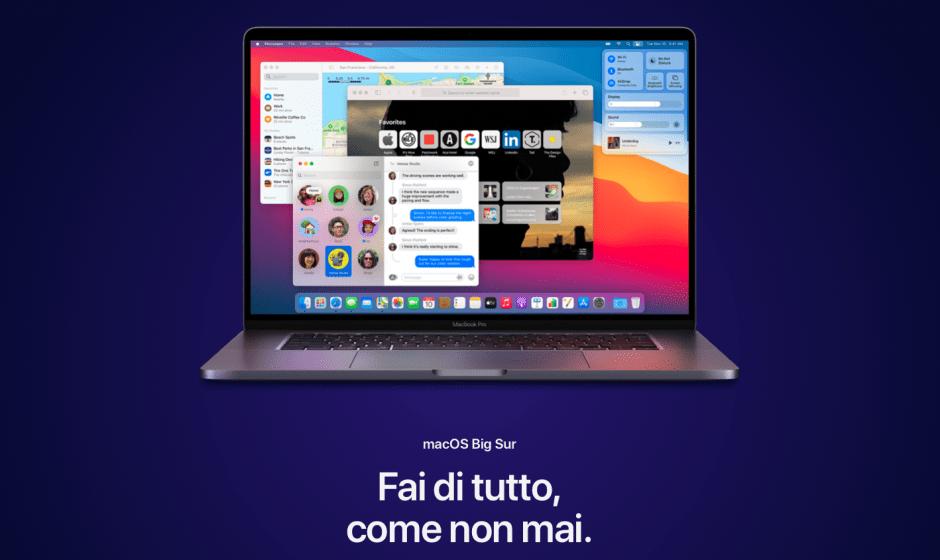 Apple rilascia MacOS 11 Big Sur: ecco tutte le novità