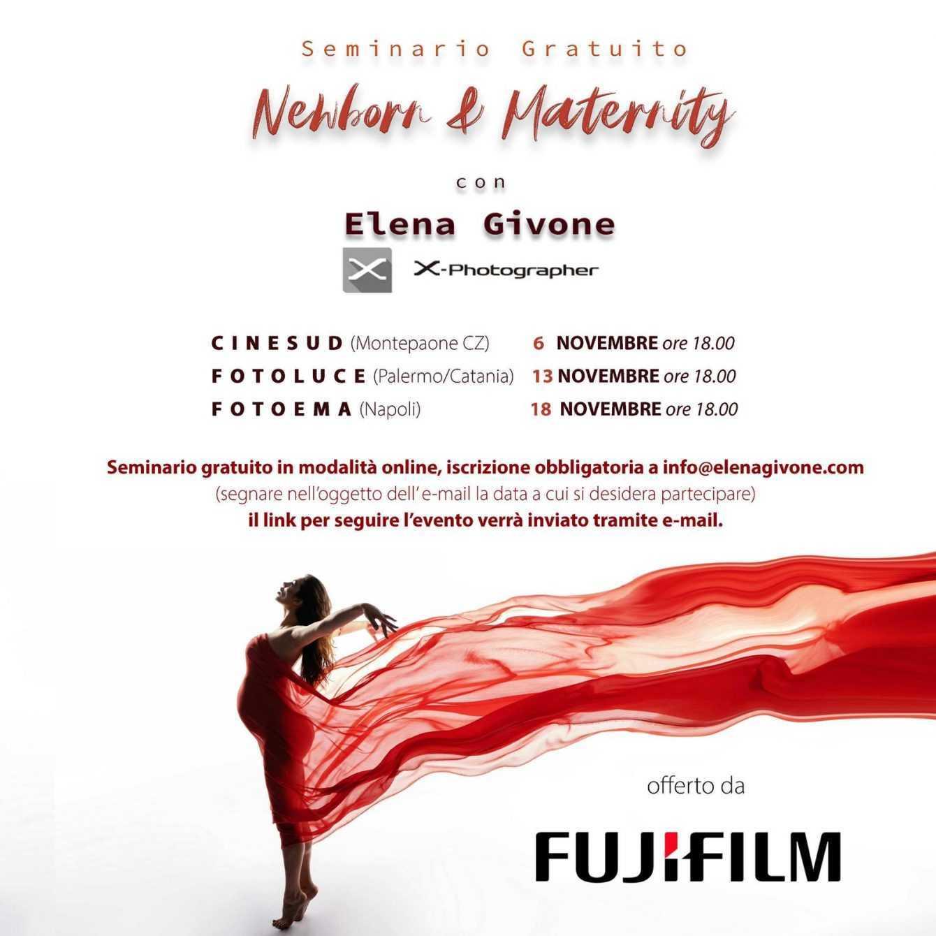 FUJIFILM: seminari online gratuiti con Elena Givone