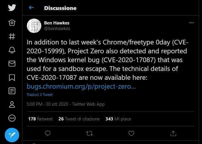 Windows: nuova vulnerabilità zero-day scoperta da Google