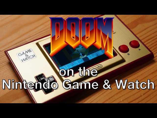 DOOM: anche il Game & Watch di Super Mario Bros. lo regge