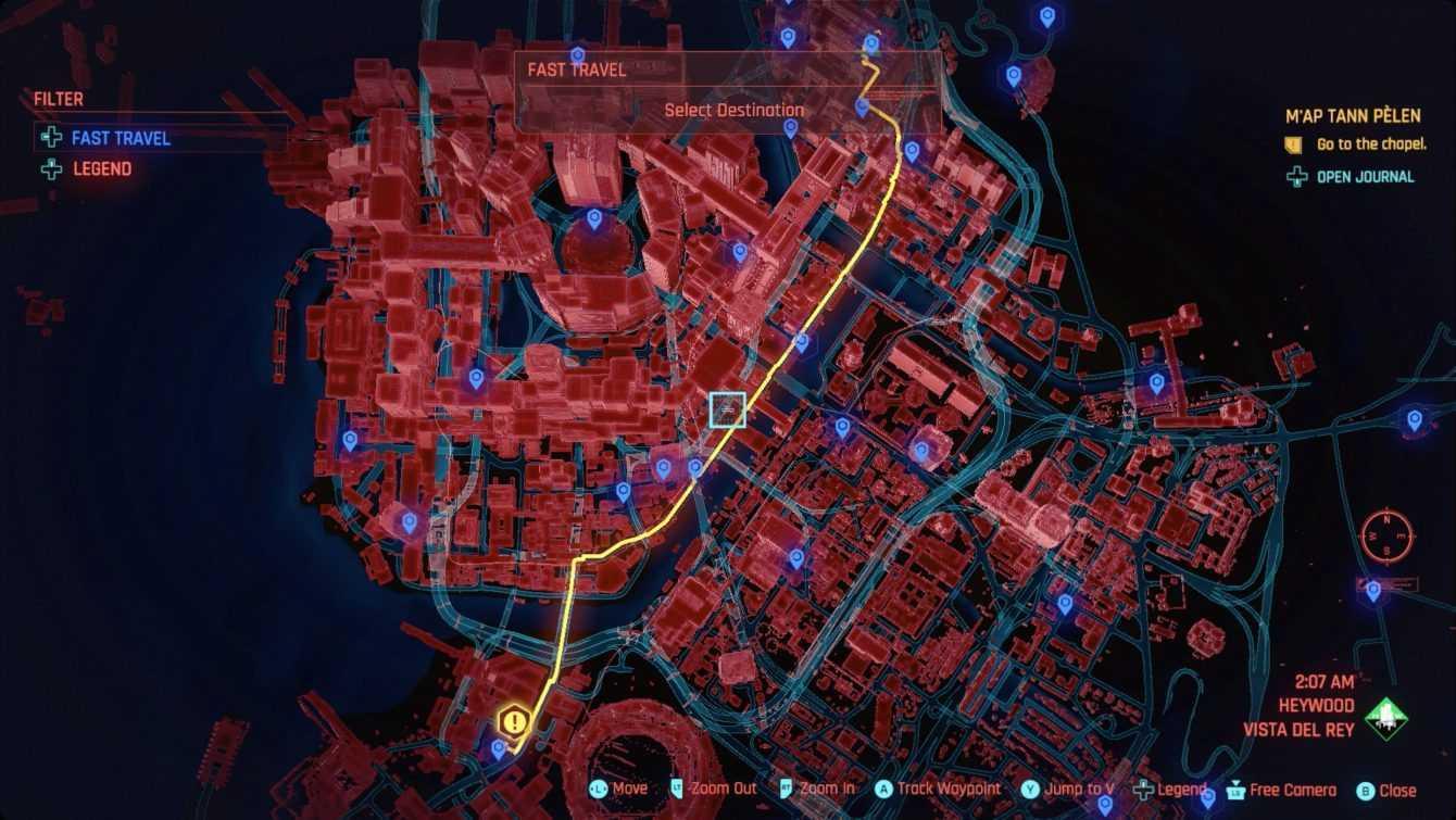 Cyberpunk 2077: come funziona il viaggio rapido