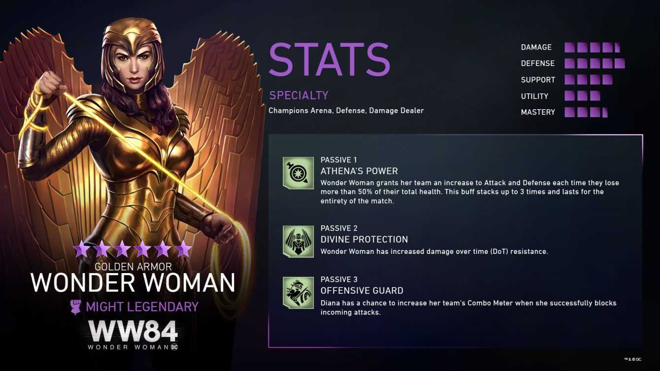 Injustice 2 Mobile: disponibile Wonder Woman Armatura Dorata