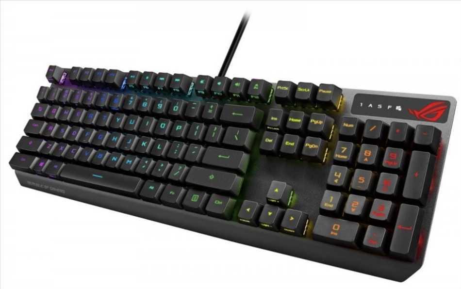 Asus ROG Strix Scope RX: la tastiera con switch meccanici ottici RX