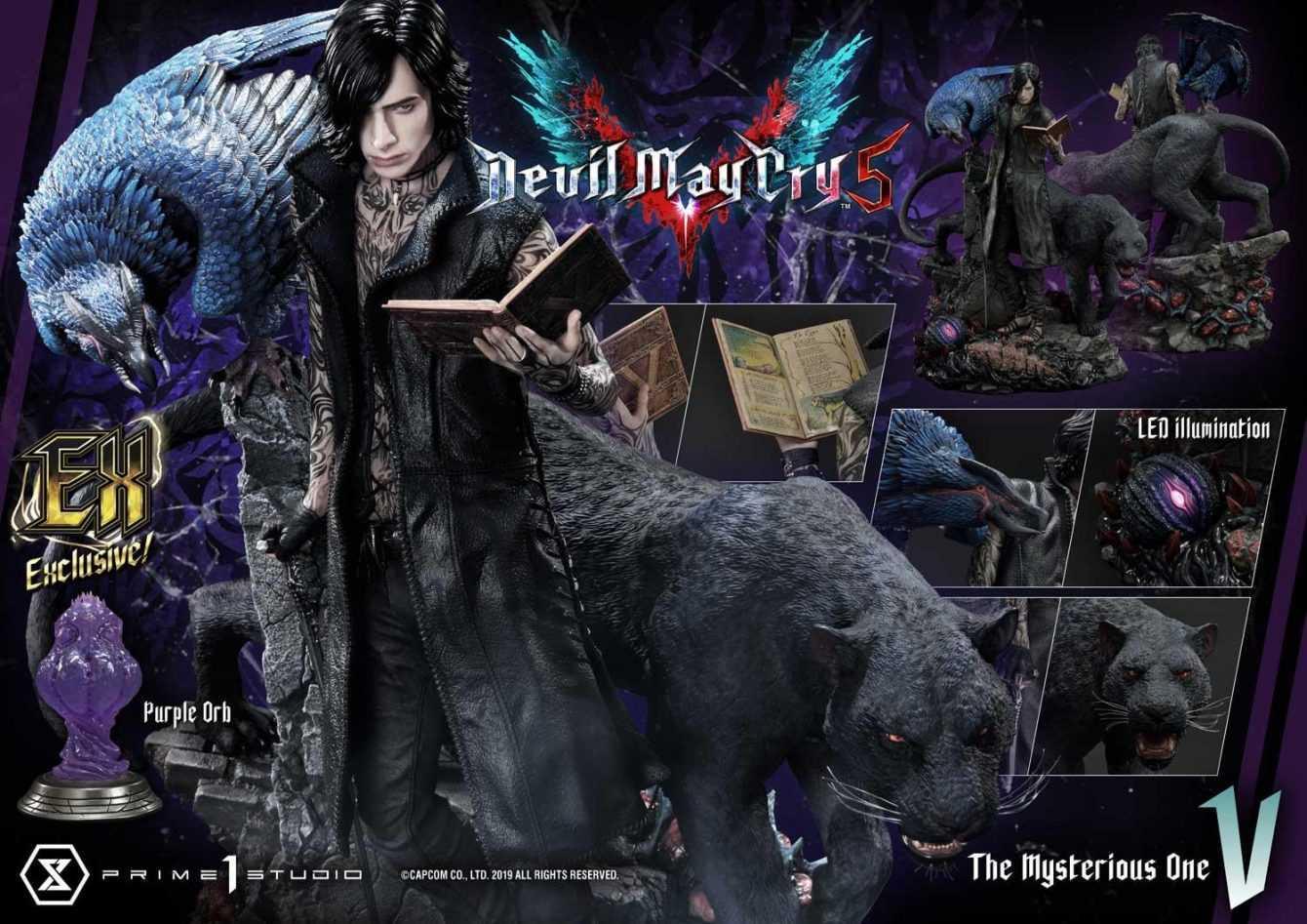 """Devil May Cry 5: ecco la nuova statua di """"V"""" in edizione limitata"""