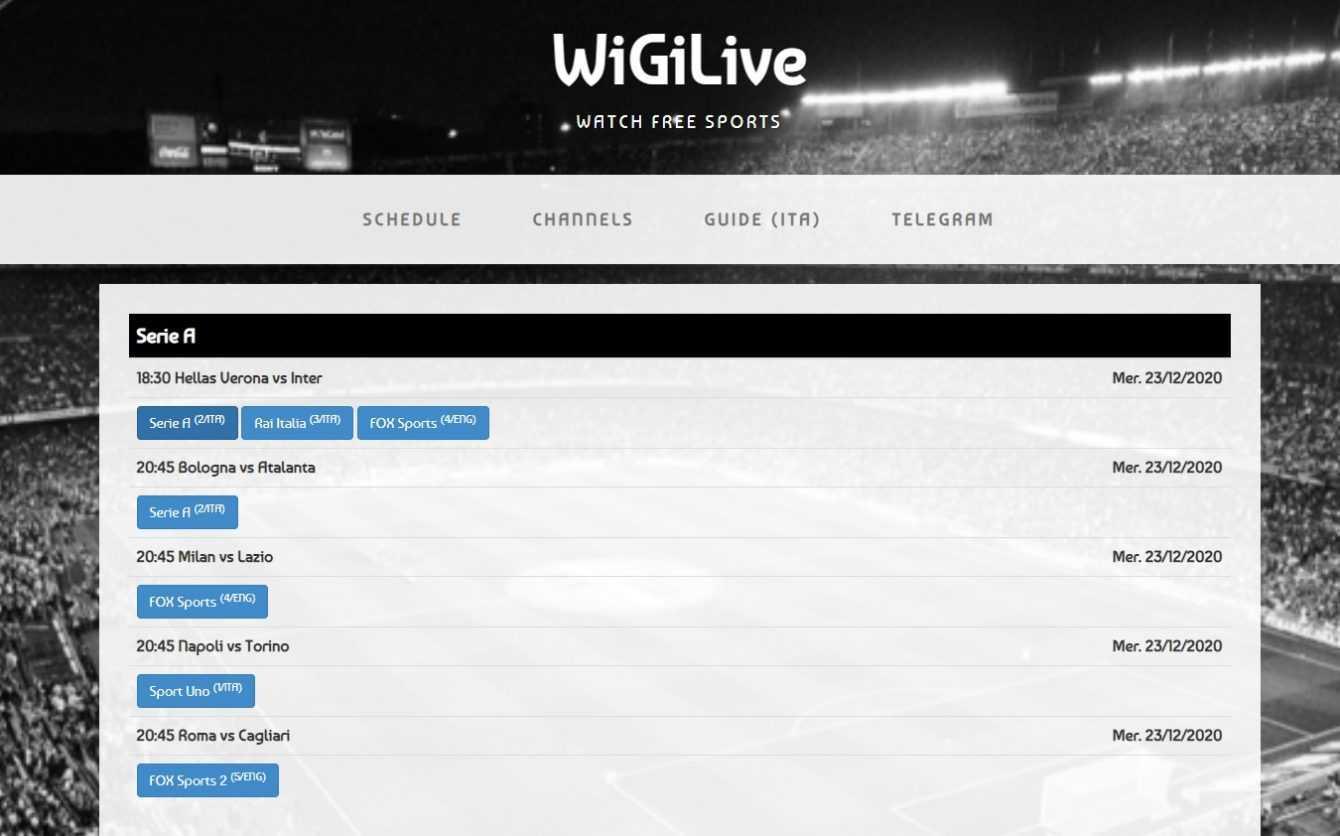 Migliori siti streaming calcio gratis | Aprile 2021
