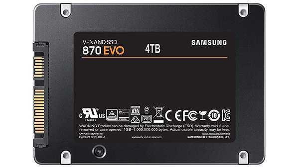 Samsung 870 EVO: SSD migliorati e capacità fino a 4 TB