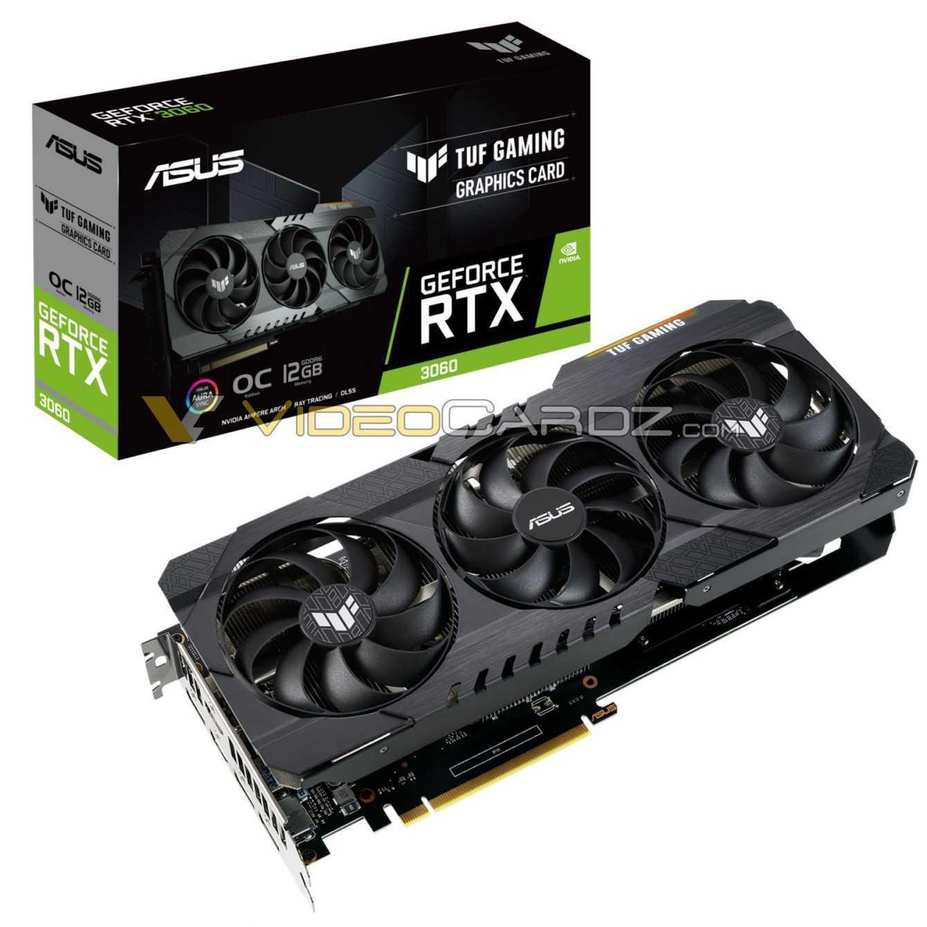 NVIDIA RTX 3060 12 GB: spoilerato il modello ASUS TUF