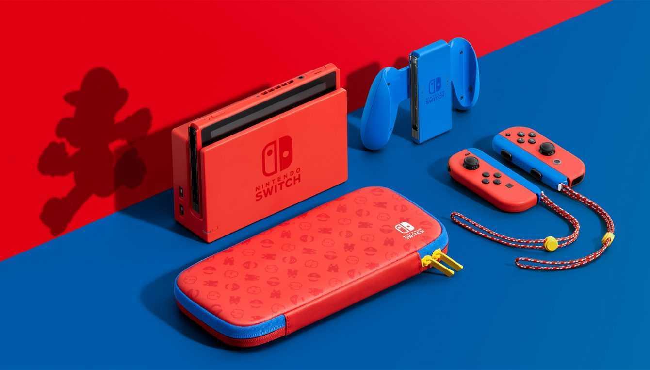 Nintendo Switch: pronta una nuova versione rossa e blu a tema Super Mario!