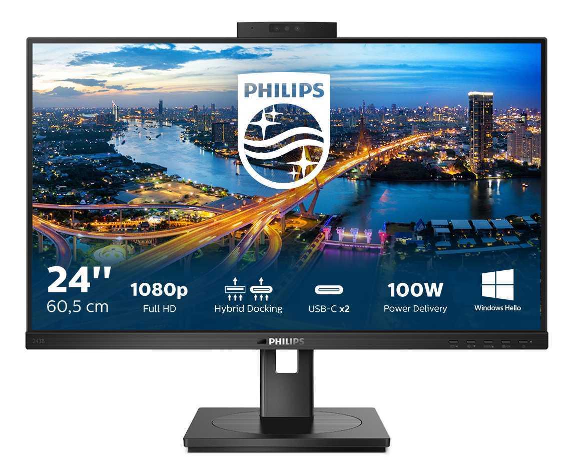 Philips 243B1JH: monitor LCD con webcam integrata