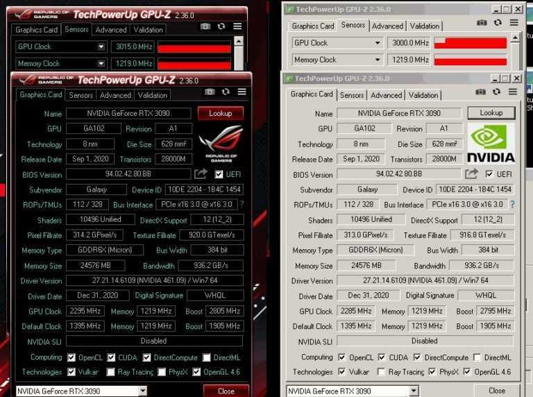 La GeForce RTX 3090 di GALAX sorprende con i suoi 3 GHz in overclock