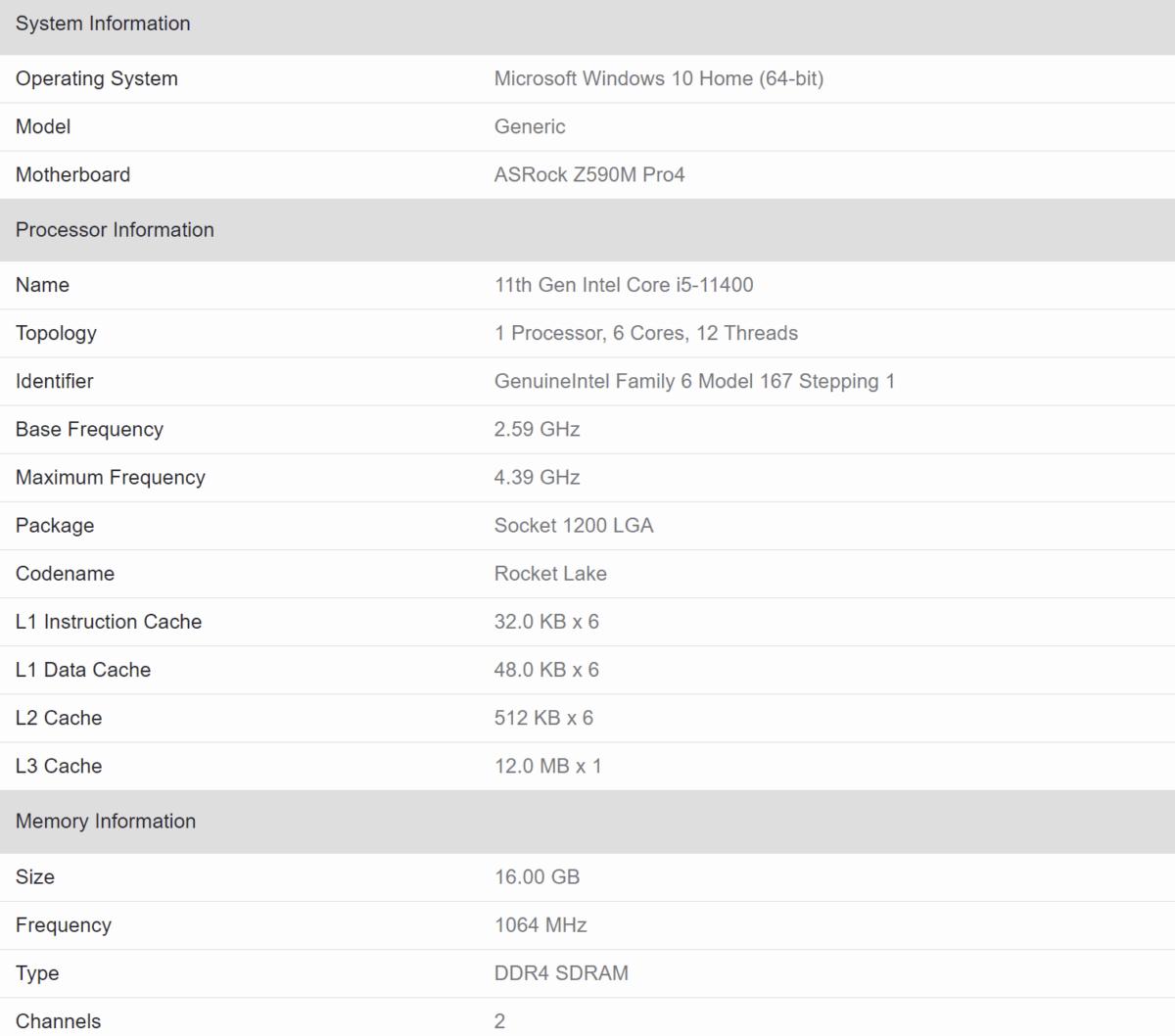 Intel i5 11400: la CPU Rocket Lake migliora del 35%