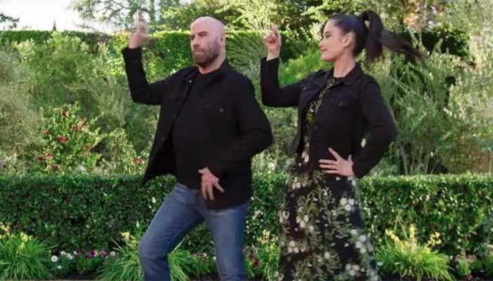 John Travolta e sua figlia ballano Grease per il Super Bowl