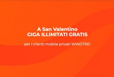 WindTre: a San Valentino GIGA illimitati per tutti