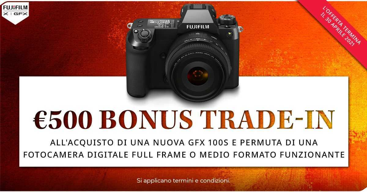 FUJIFILM GFX 100S: Bonus Trade-In per sconti fino a 500 euro