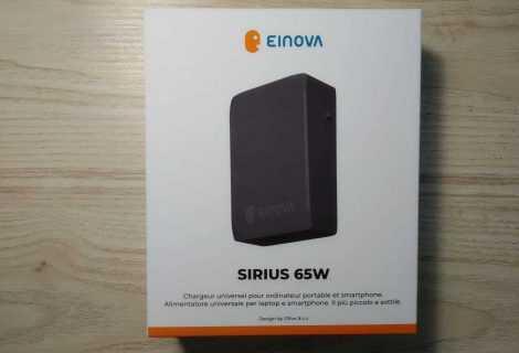 Recensione Einova Sirius 65W: caricatore universale compatto e performante