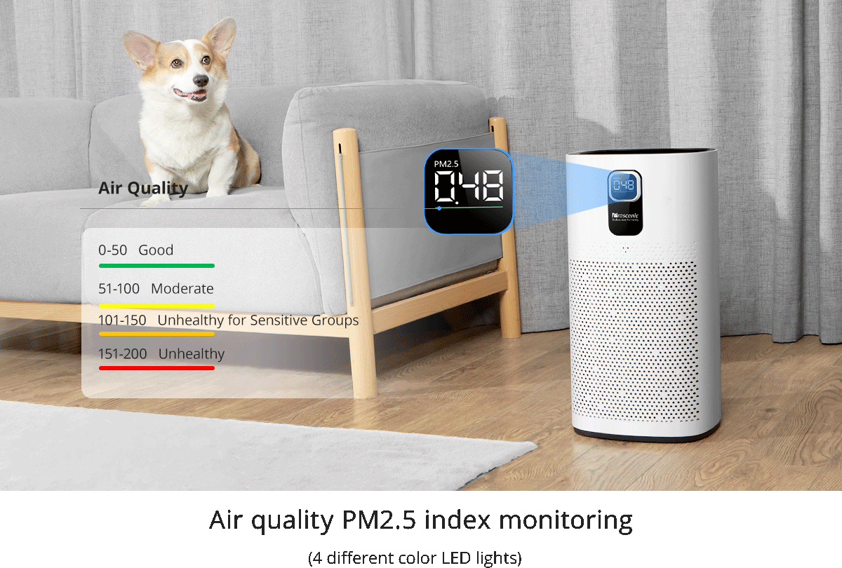 Proscenic A9: un purificatore d'aria economico e di alta qualità
