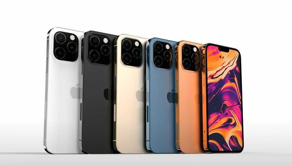 iPhone 13: notch più piccola, due nuove colori e display LTPO