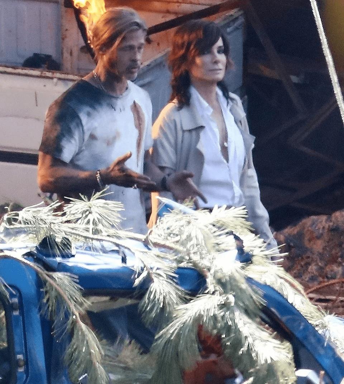 Bullet Train: Brad Pitt e Sandra Bullock nelle foto dal set