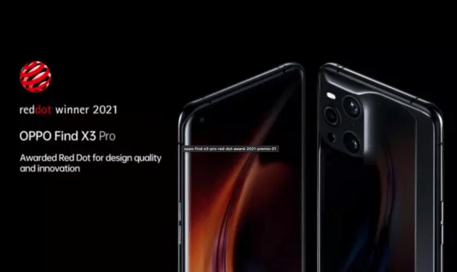 Oppo Find X3 Pro: il design vince il RED DOT AWARD 2021