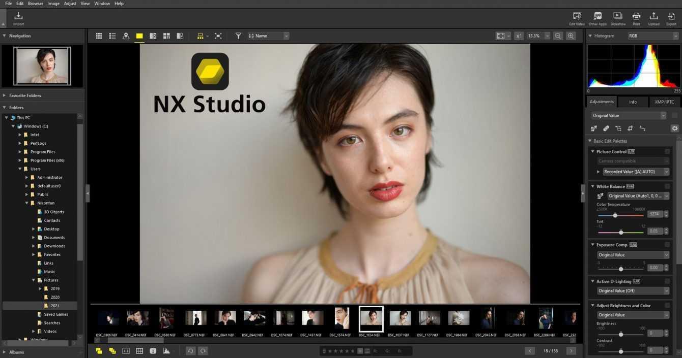 Nikon NX Studio: foto e video editing gratuito