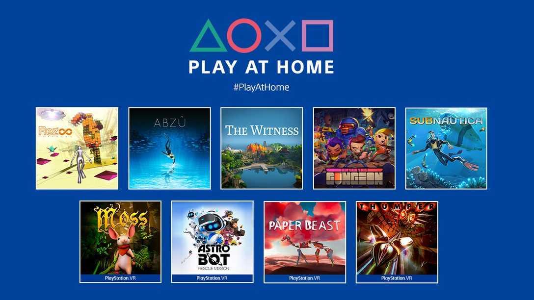 Play At Home: oltre 60 milioni di giochi riscattati grazie all'iniziativa di Sony