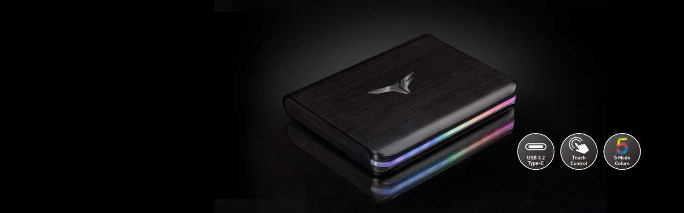 TEAMGROUP: T-FORCE TREASURE TOUCH External RGB SSD e T-CREATE ai Red Dot Awards