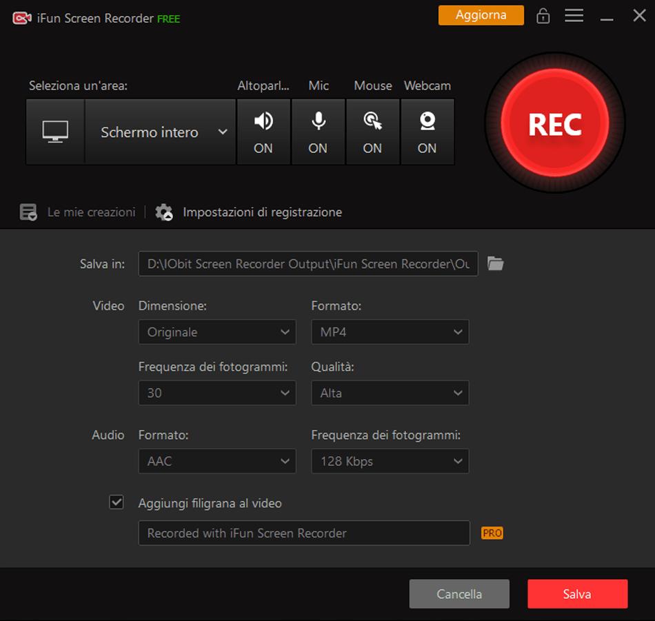 iFun Screen Recorder: registrare lo schermo del PC gratis e senza filigrana