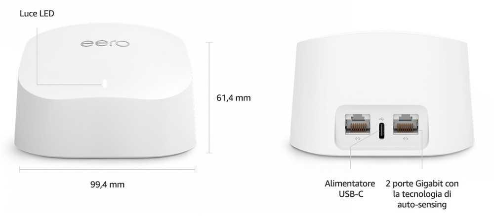 Mesh eero 6: il sistema Wi-Fi 6 di Amazon ad un prezzo di 149 euro