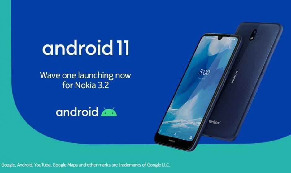Nokia 3.2: inizia il rollout di Android 11 con tante novità