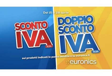 """Euronics: al via la stagione con la campagna """"Sconto IVA e Doppio Sconto IVA"""""""