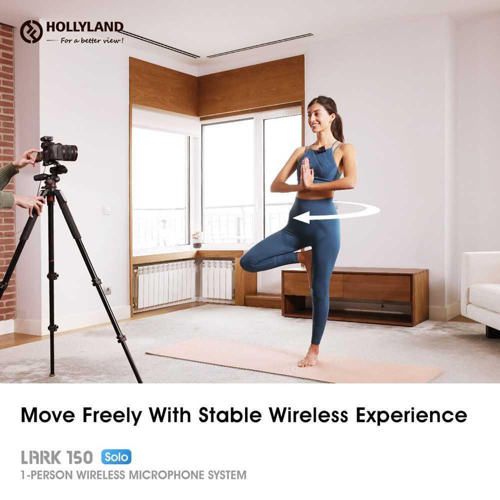 Hollyland kit LARK 150 Solo: nuovi microfoni wireless per vlogger