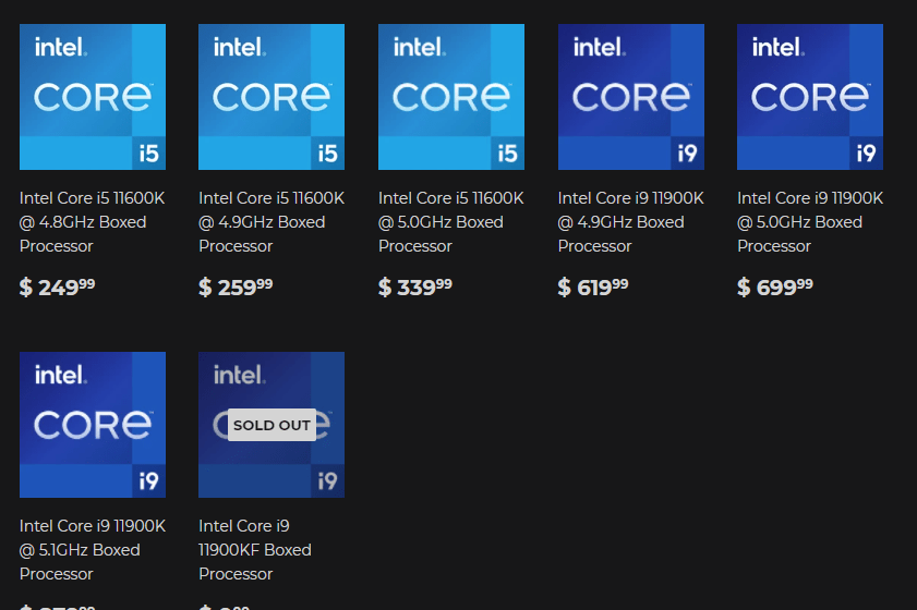 Silicon Lottery pronta a vendere le CPU Intel Rocket Lake-S Pre-binned