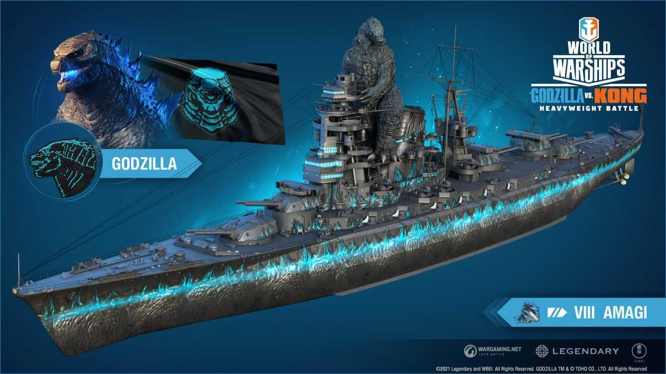World of Warships: annunciato il crossover con Godzilla vs Kong