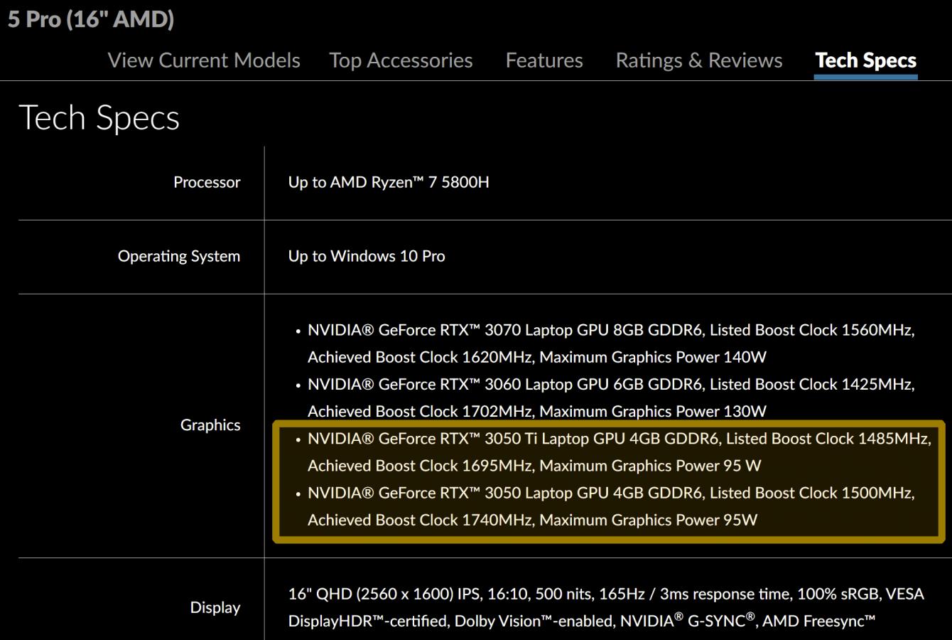 Lenovo conferma l'arrivo del Legion 5 Pro con la serie GeForce RTX 3050
