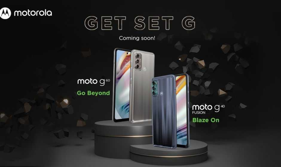 Moto G20, G60 e G40 Fusion: annuncio in vista