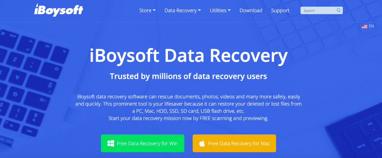 iBoysoft Data Recovery Free Edition - a total solution to rescue deleted or lost data