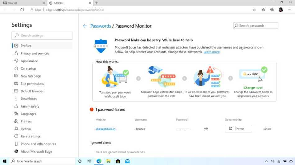 Microsoft Edge: added new features and features