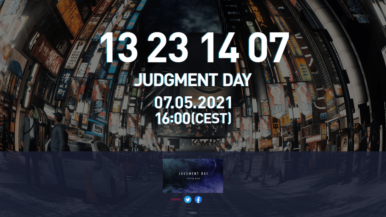 Judgment: online sito con countdown, nuovo annuncio imminente?
