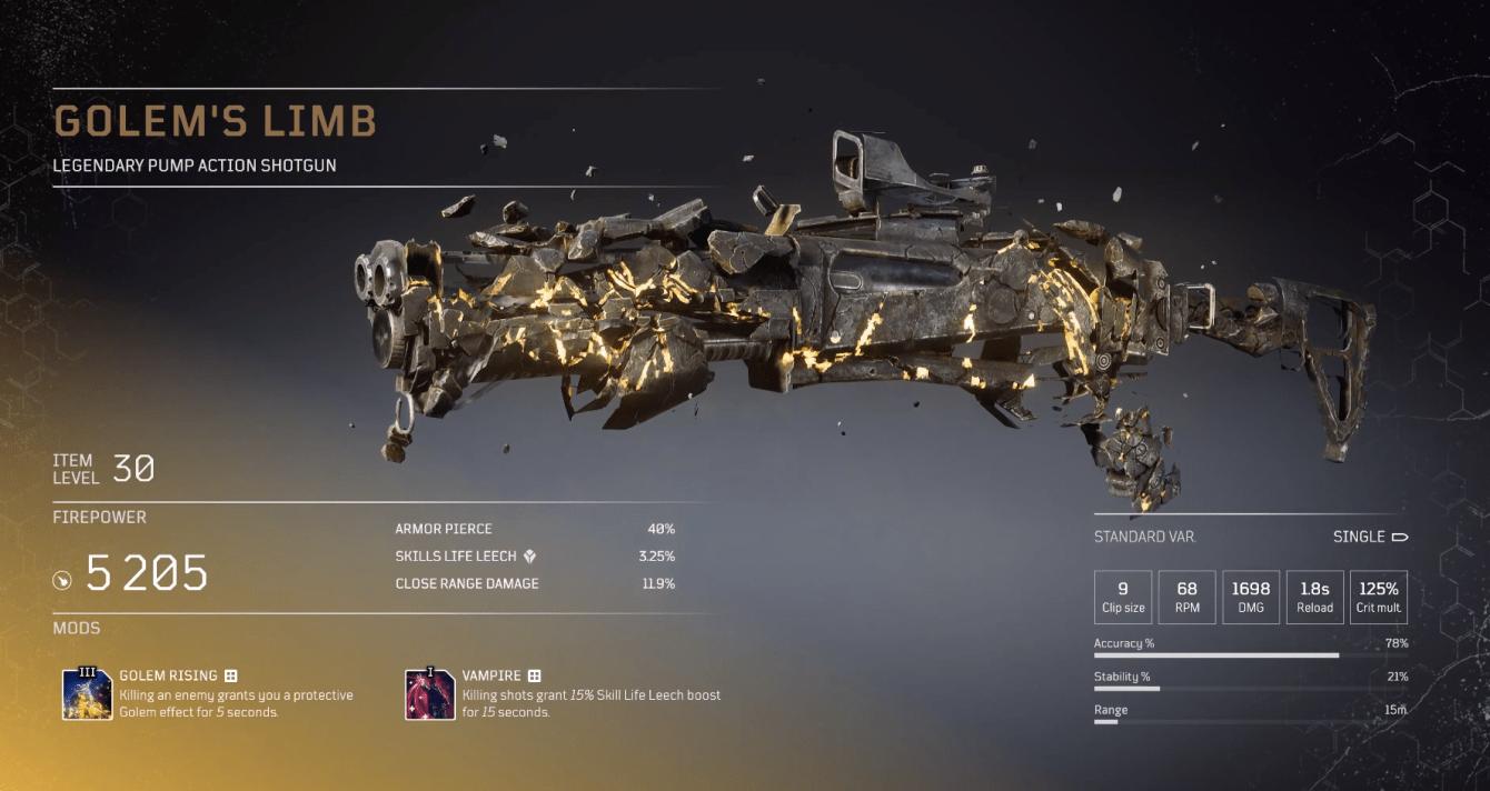 Outriders: guida per tutte le armi leggendarie
