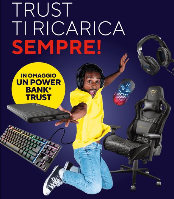 Trust: ecco la promozione che ti regala un Powerbank se spendi 40€