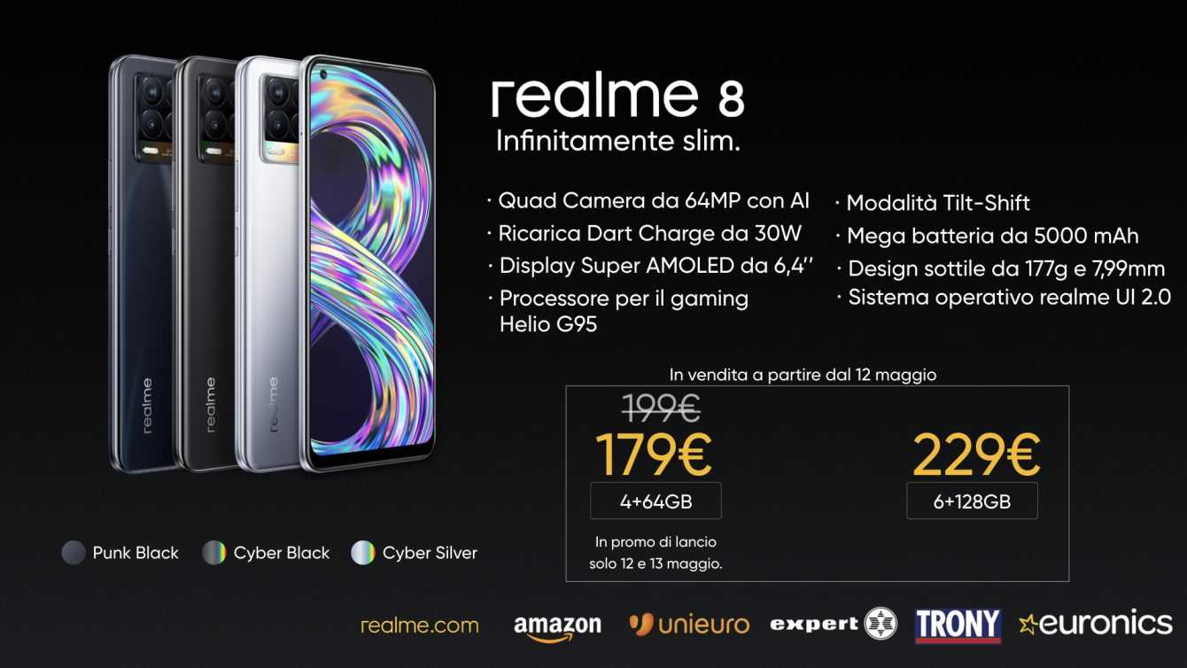 Realme 8: the 5G version is finally available in Italy