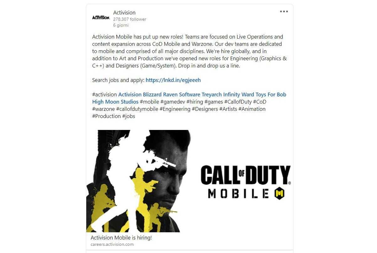 Call of Duty Warzone: in arrivo su mobile?