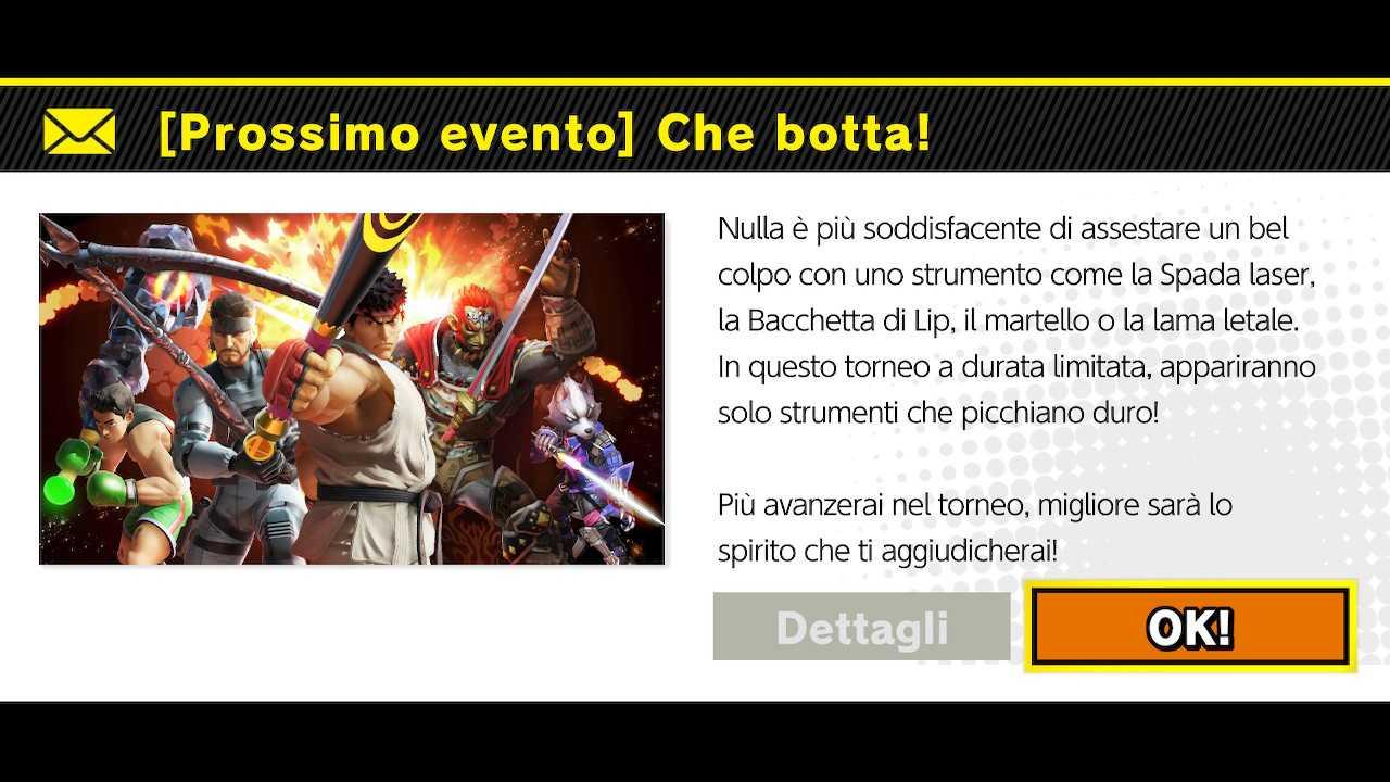 """Super Smash Bros. Ultimate: torneo online """"Che botta!"""""""