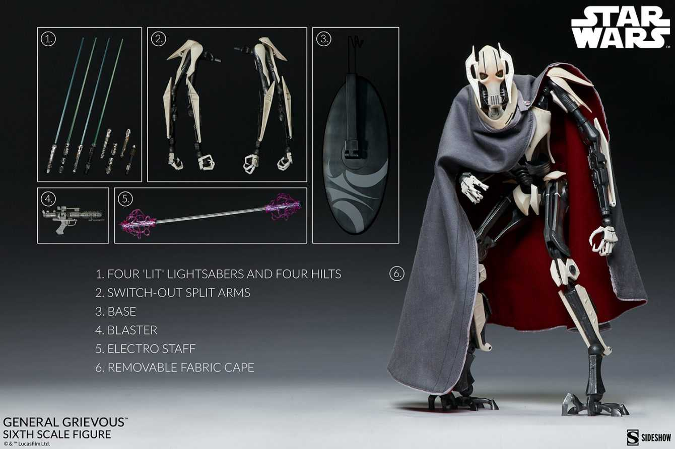 Star Wars: arriva l'action figure del Generale Grievous by Sideshow Collectibles