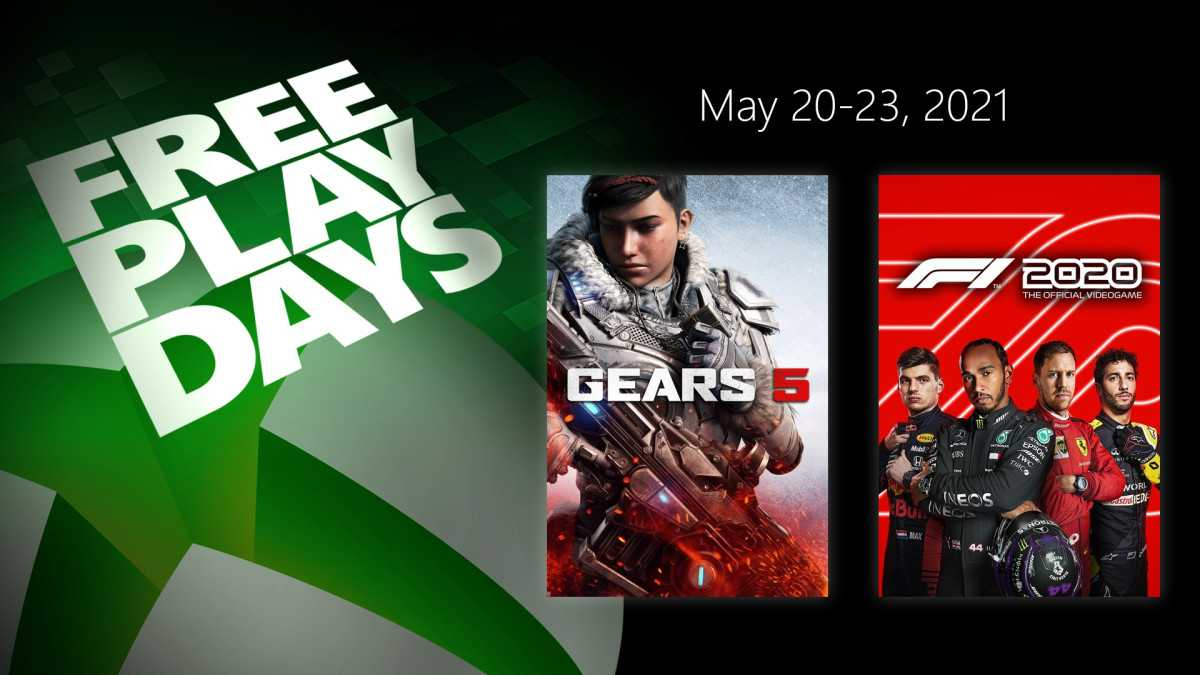 Xbox Free Play Days: Gears 5 e F1 2020 gratis a maggio 2021