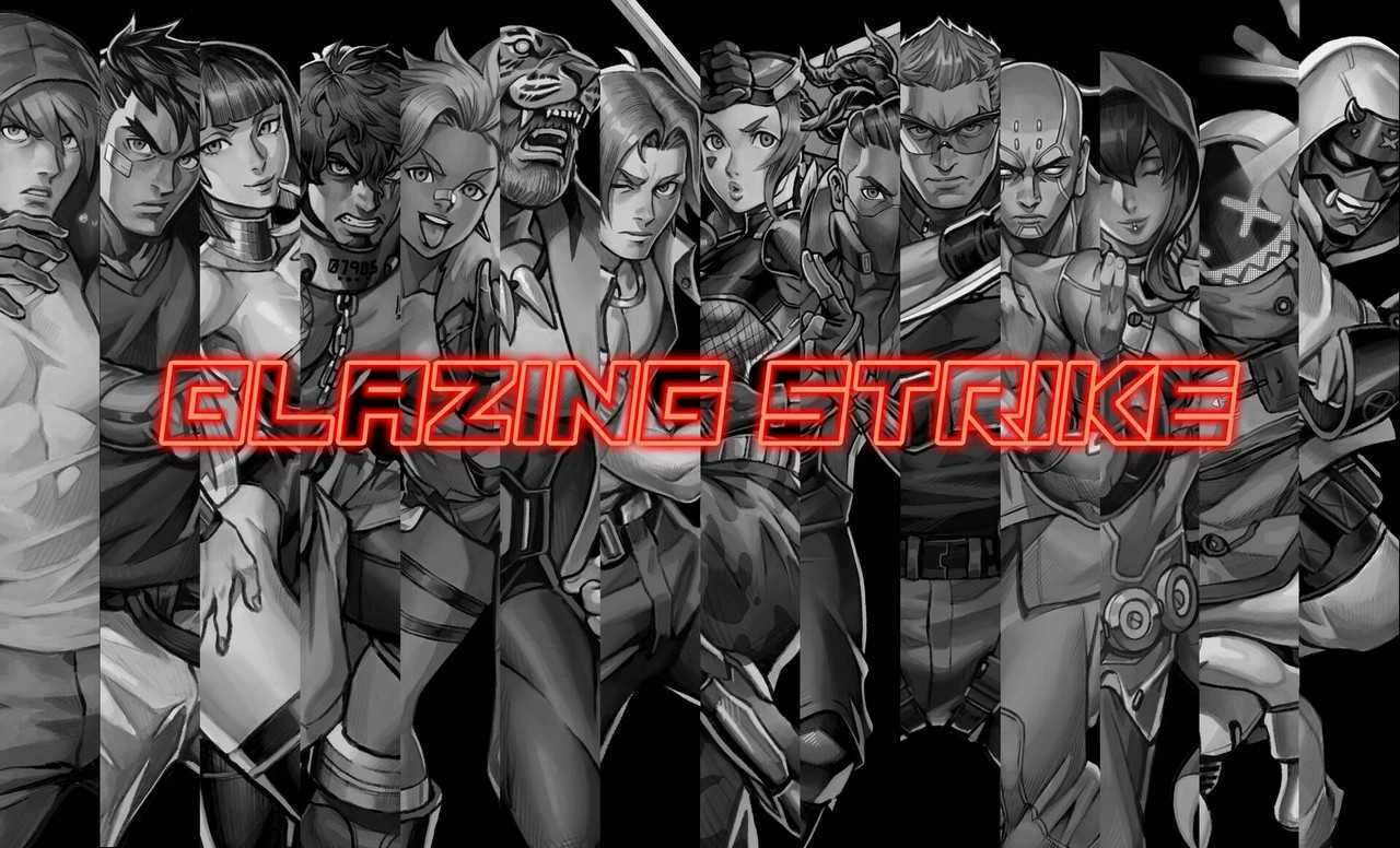 Blazing Strike: the new fighting game that winks at the past