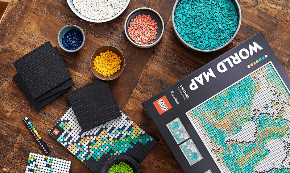 Il nuovo set LEGO Art Mappa del Mondo ci fa tornare a viaggiare